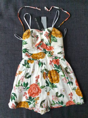 Forever New Sorrento strapless playsuit Jumpsuit kurzer Overall Blumenmuster summer blooms print