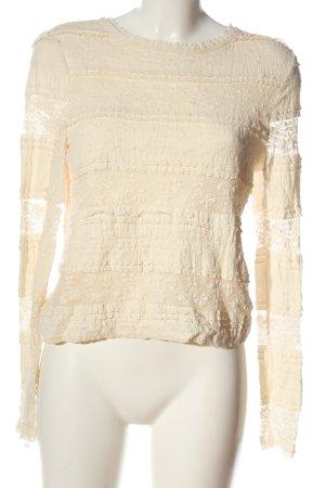 Forever New Blusa de encaje crema look casual