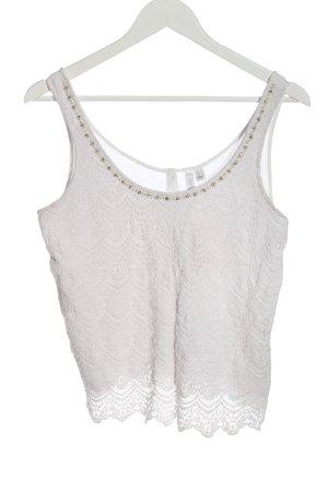 Forever New Blusa de encaje blanco elegante