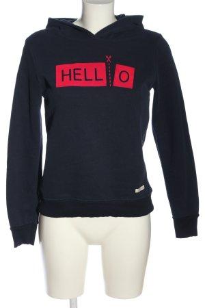 Forever Pink Kapuzensweatshirt blau-rot Schriftzug gedruckt Casual-Look