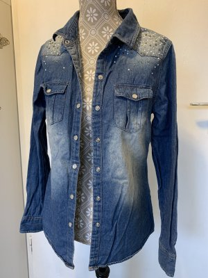 Forever Denim Shirt blue-neon blue