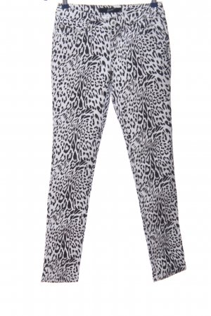 forever Skinny Jeans weiß-schwarz Leomuster extravaganter Stil