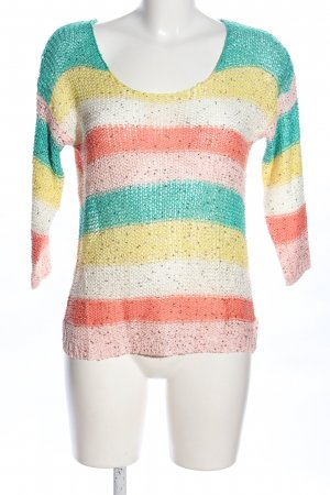 forever Strickpullover Streifenmuster Casual-Look