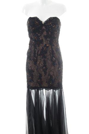 Forever Unique Abendkleid schwarz-nude Elegant