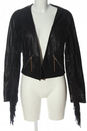Forever Unique Faux Leather Jacket black casual look