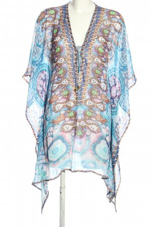 Forever Unique Beach Dress blue-brown abstract pattern casual look