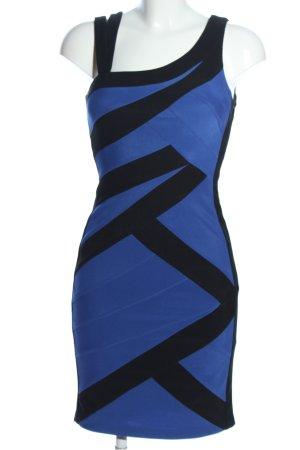 Forever Unique Trägerkleid blau-schwarz Streifenmuster Casual-Look