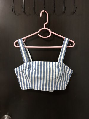 Forever 21 Cropped top wit-azuur