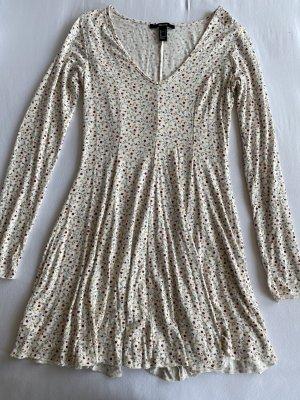 Forever 21 A Line Dress natural white-carmine
