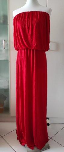 Forever21 Maxi langes Kleid rot Bandeau trägerlos Gr. M / L