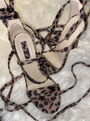Forever 21 Sandalen met bandjes en hoge hakken veelkleurig