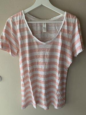 Forever21 Tshirt gestreift weiß apricot