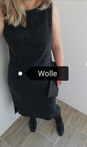 la rochelle Vestido de lana gris-gris antracita