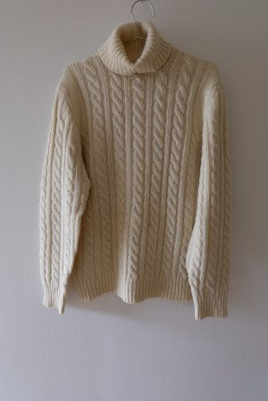 Coarse Knitted Sweater natural white wool
