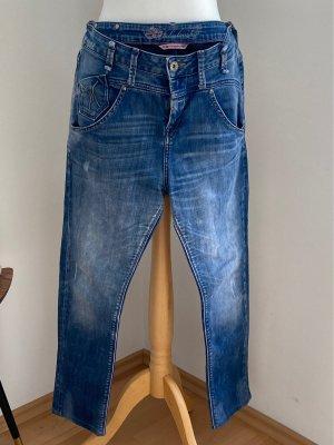 Fornarina Jeans vita bassa blu acciaio