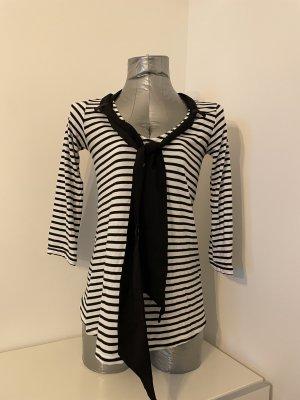 Fornarina, 3/4-Arm-Shirt mit Schal, gestreift, Gr. M