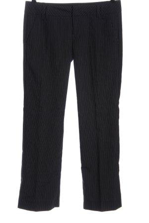 Fornarina Pantalón de vestir negro-blanco estampado a rayas estilo «business»
