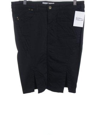 Fornarina Falda de tubo negro estilo clásico