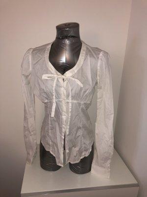 Fornarina, Bluse mit Schleife, weiß, Gr. M