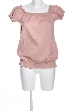 Fornarina Blouse topje nude gestreept patroon casual uitstraling