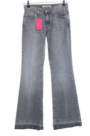 Fornarina Boot Cut Jeans hellgrau Casual-Look