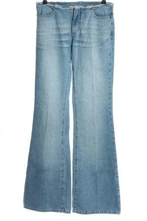 Fornarina Boot Cut Jeans blau Casual-Look