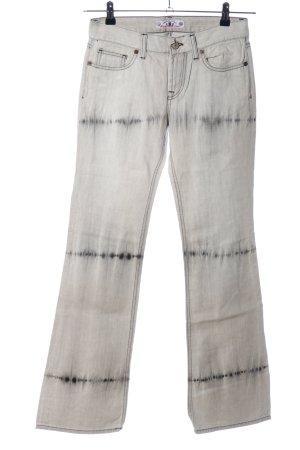 Fornarina Boot Cut Jeans hellgrau-schwarz Streifenmuster Casual-Look