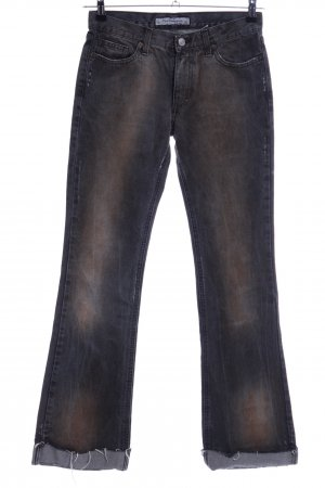 Fornarina Boot Cut Jeans blau-braun Farbverlauf Casual-Look
