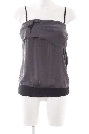 Fornarina Camisole schwarz-grüngrau Bänderverzierung