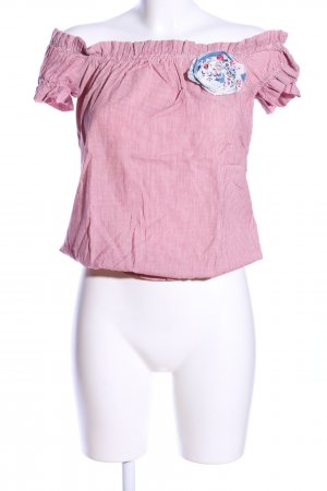 Fornarina Carmenshirt pink Allover-Druck Casual-Look