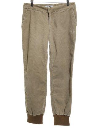 Fornarina Pantalon en velours côtelé chameau style décontracté
