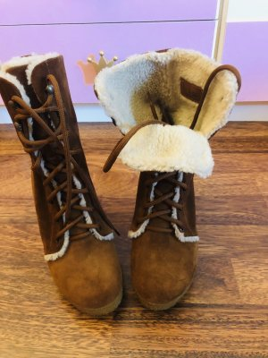 Fornarina Fur Boots brown-beige