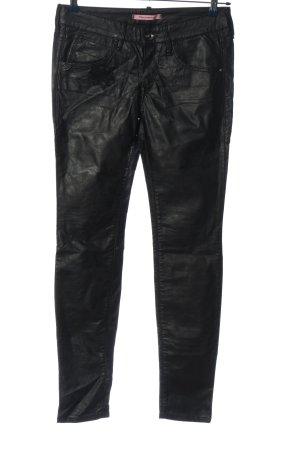 Fornarina Pantalon cinq poches noir style décontracté