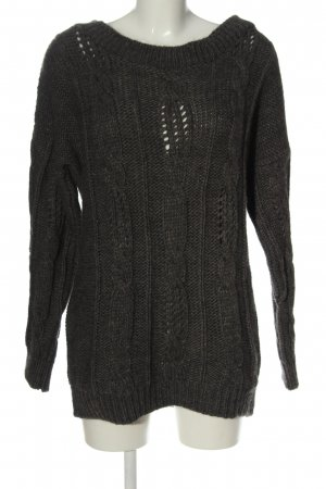 Fornarina Coarse Knitted Sweater light grey casual look