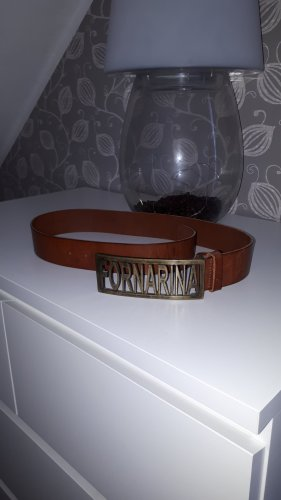 Fornarina Leather Belt brown-cognac-coloured