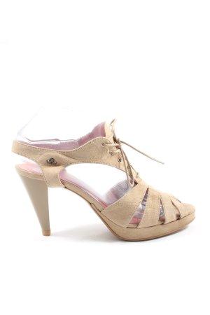 Fornarina High Heel Sandaletten creme Casual-Look