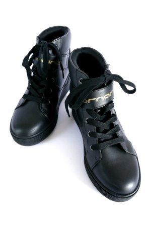 FORNARINA High Top Keil Sneaker Schuhe Plateau black gold