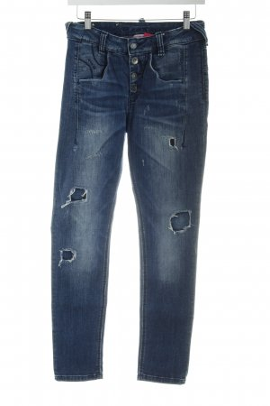 Fornarina Hoge taille jeans donkerblauw casual uitstraling
