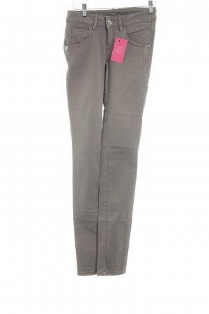 Fornarina Hoge taille jeans grijs-bruin casual uitstraling