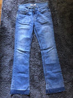 Fornarina Jeansowe spodnie dzwony ciemnoniebieski