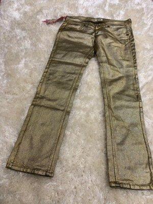 Fornarina Jeans gold metallic ungetragen mit Etikett