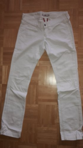 Fornarina Pantalon taille basse blanc