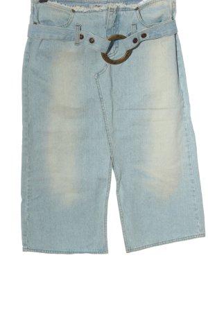 Fornarina Jeansrock blau Casual-Look