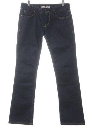 Fornarina Jeansschlaghose dunkelblau Casual-Look