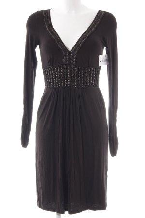 Fornarina Jerseykleid schwarz Paillettenverzierung