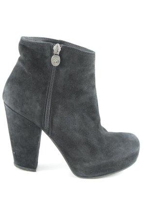 Fornarina Keil-Stiefeletten schwarz klassischer Stil
