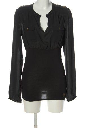 Fornarina Langarm-Bluse schwarz Elegant