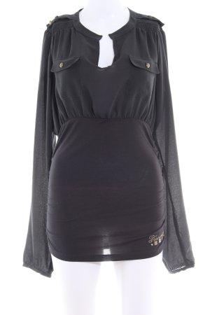 Fornarina Langarm-Bluse schwarz Casual-Look