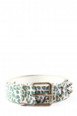 Fornarina Leather Belt pink-green allover print casual look