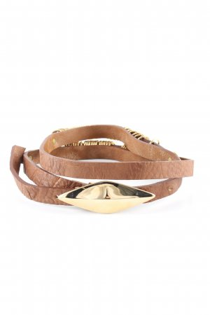 Fornarina Faux Leather Belt brown extravagant style